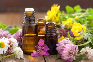 Essential Oils with Medical Flowers and Herbs